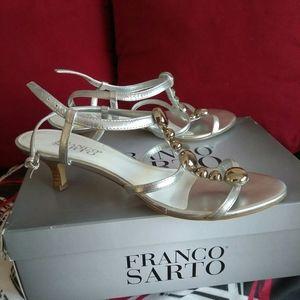 Franco Sarto Silver Sandals